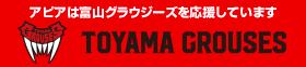 アピアは富山グラウジーズを応援しています